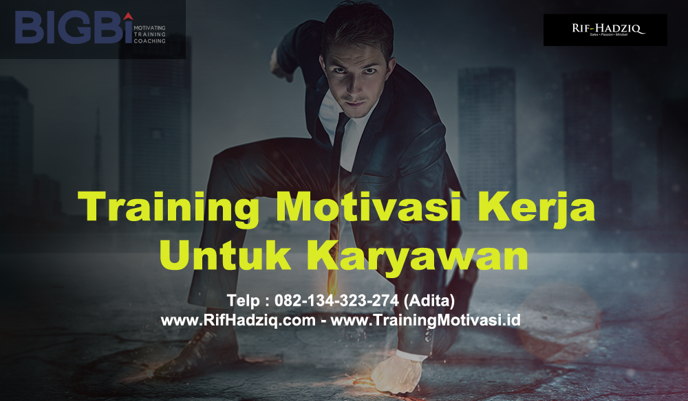 training motivasi, training motivasi karyawan, rif hadziq, james gwee
